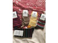 Set of 5 stripy men's socks new