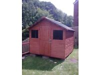 top quality 8ft x 8ft log board garden shed delivered and set up anywhere in ni