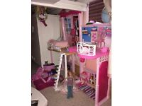 Lovely barbie house and dolls