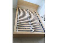 IKEA MALM Double bed frame (used)