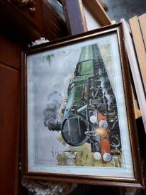 Framed Train Picture - Sir Gehant. Locomotive