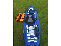 Fun toy , Inflatable canoe 3 chamber