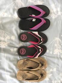 Flip flops ( size 3 and 5)