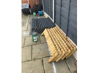 Garden border edging fixed log roll 20 x 1 metre
