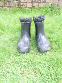 Waterproof black ankle boots