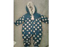 BNWT snow suit 3-6 months boys
