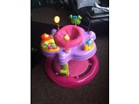 Kiddie couture play/activity centre (bounce/spin/play)