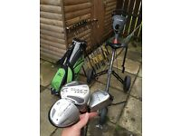 Taylormade golf clubs, bag & trolley
