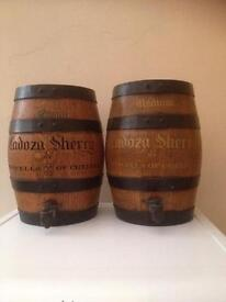 Vintage Cadoza Sherry by Stowells of Chelsea Barrel