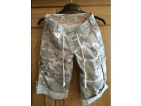 Ladies camouflage shorts, size 6, Asda, excellent condition