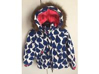 Boden girls winter coat size 6-7