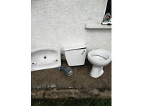 Used but good clean condition standard Toilet,Cystern with new fitments and basin