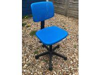 Ikea desk chair children's blue