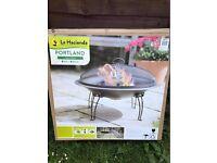 Steel Firepit Fire Bowl Fire Pit Wood Burner Patio Heater Folding Legs