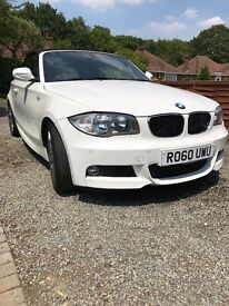 BMW 120d msport convertible immaculate condition white with full heated black leather sports seats