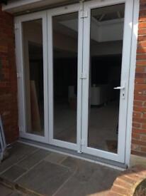 Reduced white bi fold doors upvc