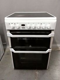 Indesit Electric Cooker 1D60C2(W)/FS18556,6 months warranty, delivery available in Devon/Cornwall