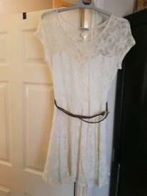 Lace dress white/cream size 12