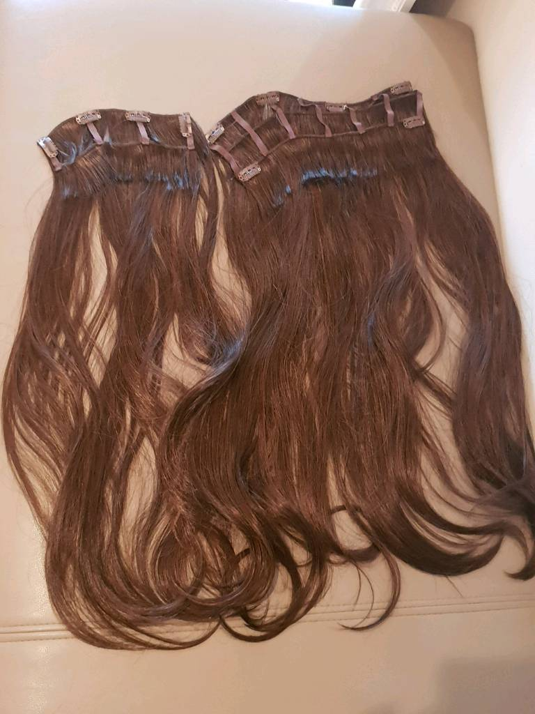 Brand New Extra Long Real Hair Extensions Brown In Swindon