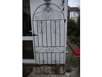 Wrought Iron Arched Gate,With Hinge Lugs,And Latch.