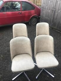 Set of 4 Romanian 1960s chairs