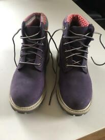 Purple Timberland Girls Boots Size 13