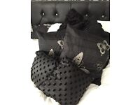 Black cushion collection