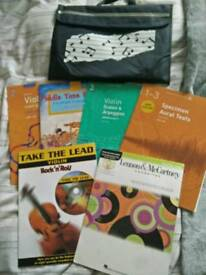 Violin Music Books + Bookbag