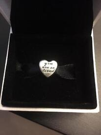 Genuine you are so loved pandora charm