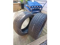 Car tyres part worn x2
