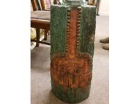 EARLY BERNARD ROOKE LARGE SCULPTURAL VASE GREAT DESIGN 22 INCHES TALL
