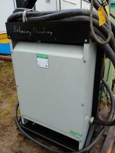GS (General Signal)Transformer 118 KVA , 3 PH, 575 Delta to 460Y/266 Volts mounted on steel frame with extension cords