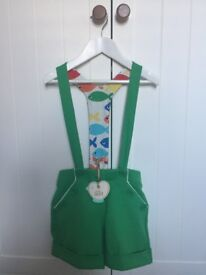 *NEW* Little Bird Green Shorts with Braces Age 5-6