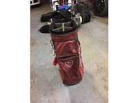 Nike Maroon Golf Bag, lots of compartments for Accessories.