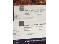 Paul Weller Doncaster Dome £80 pair