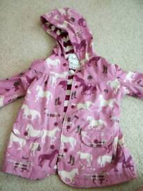 AGE 5 GIRLS USED DESIGNER HATLEY COAT GOOD CONDITION HORSES DESIGN