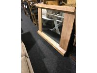 Large new solid wood mirror