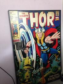 Thor b and q wooden picture