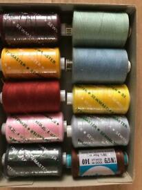 20 x Assorted SEWMASTER SPUN POLYESTER NO 120 1000 YDS £1 each or 15 for the lot
