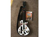 **SOLD** Nintendo Wii Guitar Hero guitar controller and game