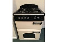 Leisure gas double oven with 4 ring gas hob