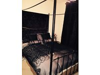 Metal 4 Poster Bed For Sale