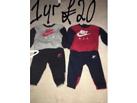 Kid tracksuits perfect condition couple months old