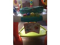 Bright Starts Bouncer Activity Centre - good used condition see pics for condition