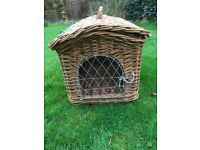 Vintage Wicker Whelping Box Small Dog Carrier Basket For Toy/Small Dog