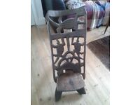 African carved wooden chair.