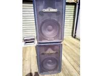 "2nd pair Carlsbro PA 15"" speakers Uk Made"