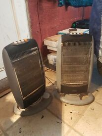 2 electric self standing heaters