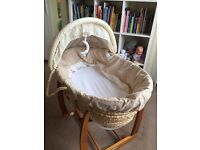 Moses basket with stand from mama and papas