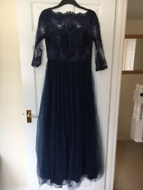 Chi Chi London Navy Prom/Bridesmaid Dress
